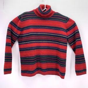 Ralph Lauren Womens XL Mock Neck Lams Wool Sweater